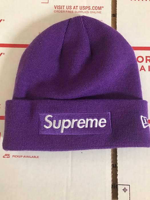 Supreme PURPLE BOX LOGO BEANIE Size one size - Hats for Sale - Grailed fcc554b9bcd