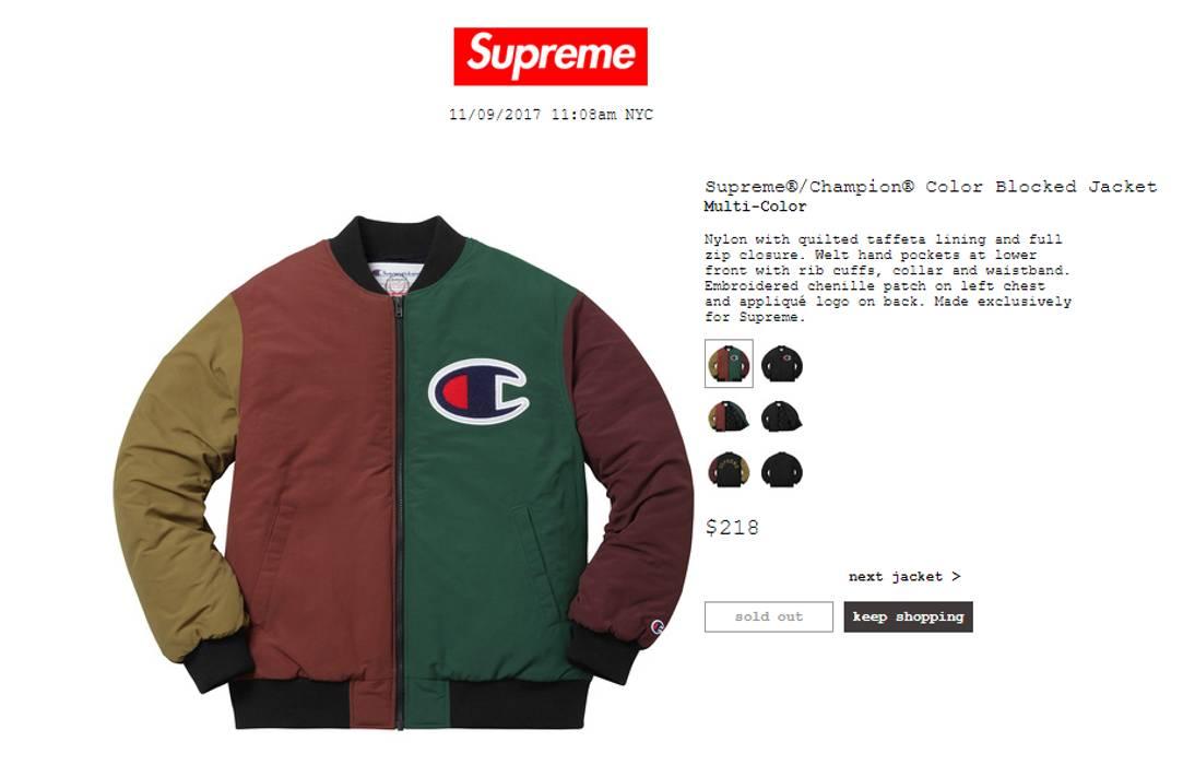 f46ebe829d40 Supreme Supreme x Champion Color Blocked Jacket Size US M   EU 48-50