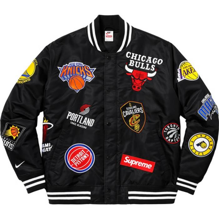 Supreme SS18 Supreme x Nike x NBA Authentic Warm Up Jacket Size US XL   EU 09d294fad