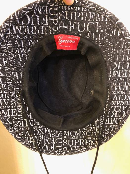 b30568c7d0e Supreme Boonie Fuck Em All Hat Size one size - Hats for Sale - Grailed