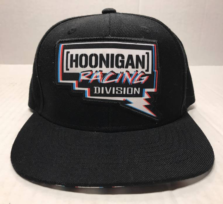 Hat Hoonigan Racing Division Pennzoil Black Flat Bill Snapback Baseball Hat  Size ONE SIZE - 1 a75c882393f1