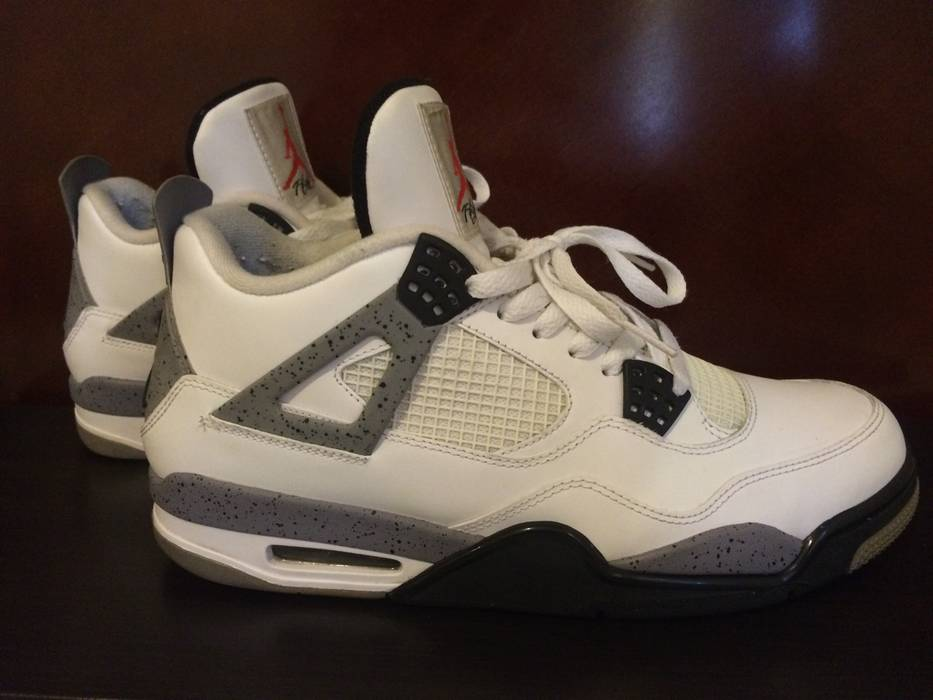 Jordan Brand Air Jordan Retro 4 IV White Cement w  OG Box 2012 Size ... eae6e4030