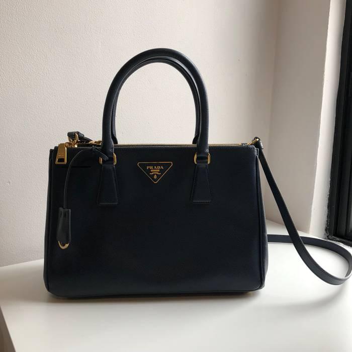 0833c91222a1 ... best price prada prada saffiano tote bag in dark navy baltico size one  size 1b27c 14726 ...