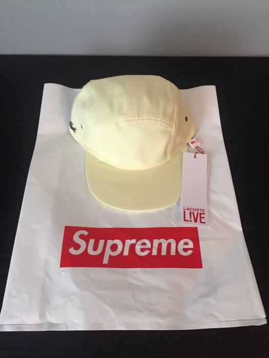 Supreme Supreme x Lacoste Camp Cap Yellow Size one size - Hats for ... 6a99d37e70e9