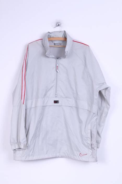 Nike Nike Mens L Jacket Grey Overhead Nylon Waterproof Training ... 9dac79193