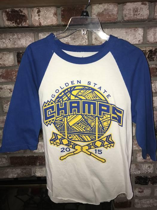 Cukui. 2015 Golden State Warriors Limited edition Championship baseball T- Shirt 1b2b8792c