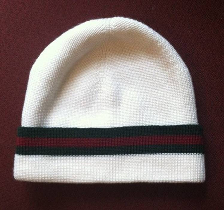 a0bb48c42fcb Gucci White Gucci Beanie Size M Size one size - Hats for Sale - Grailed