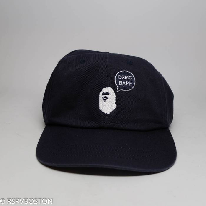 Bape Bape x Dover Street Market Ginza Dad Hat Navy Blue  White New Size ONE a038a4e447e
