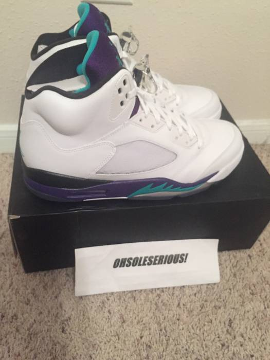 54650cebe0aa Jordan Brand NIKE AIR JORDAN 5 RETRO V GRAPE 2013 DS SIZE 12 ...