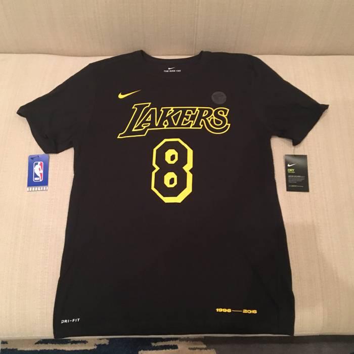 a29cf5c5c Nike Nike Kobe Bryant Jersey T-shirt Black Tee 8 24 Black Mamba Size ...