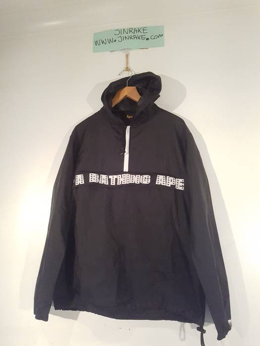 2223834387 Bape A Bathing Ape BAPE 1 2 Zip Pullover Kangaroo Pocket Shower Jacket M  Size