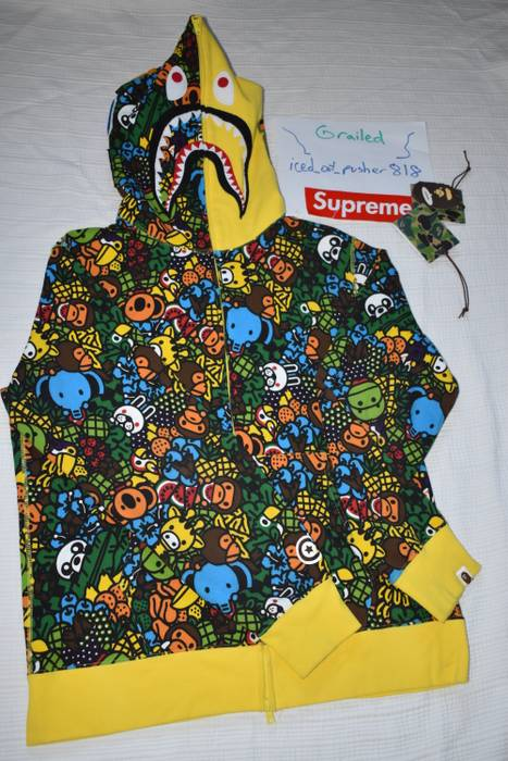 Bape MILO ALL ISLAND SHARK FULL ZIP HOODIE Size xxl - Sweatshirts ... 3f2b52b63