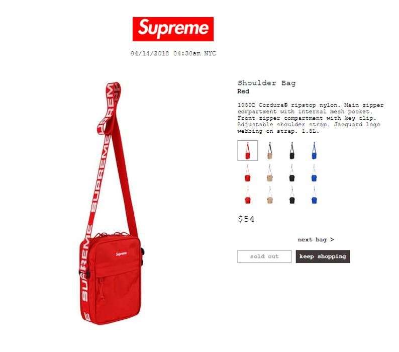 2f3610e697 Supreme Supreme Shoulder Bag SS18 Red Size one size - Bags   Luggage ...
