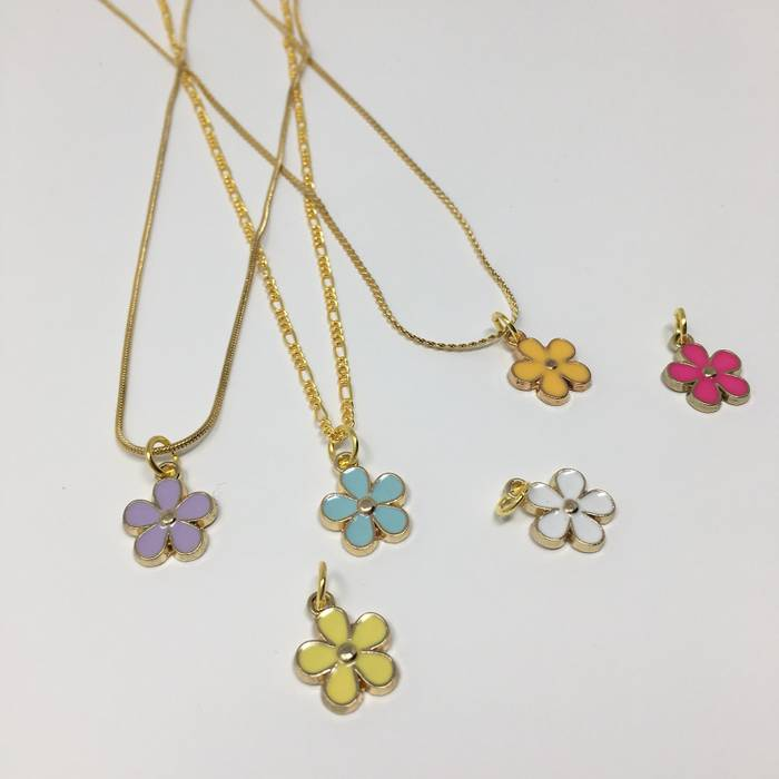 None Brand New 14k Gold Plated Colorful Golf Le Fleur Flower Boy