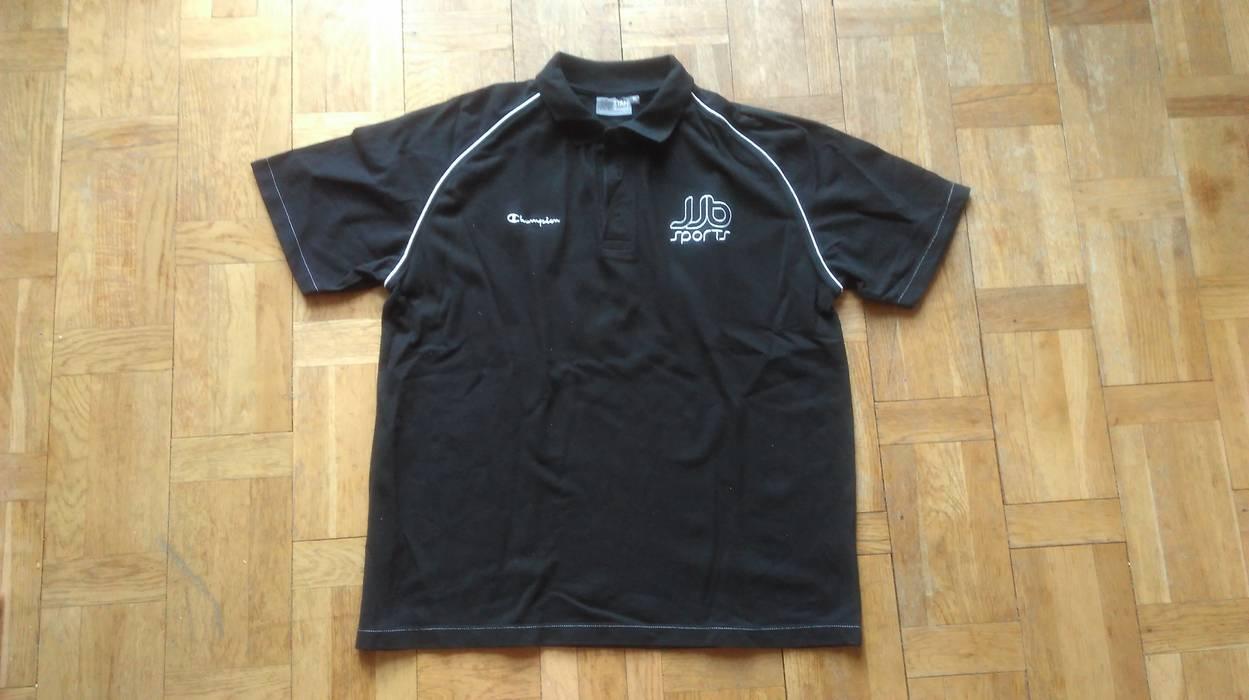 Champion Champion Black Polo Casual Shirt Short Sleeve Black Tee