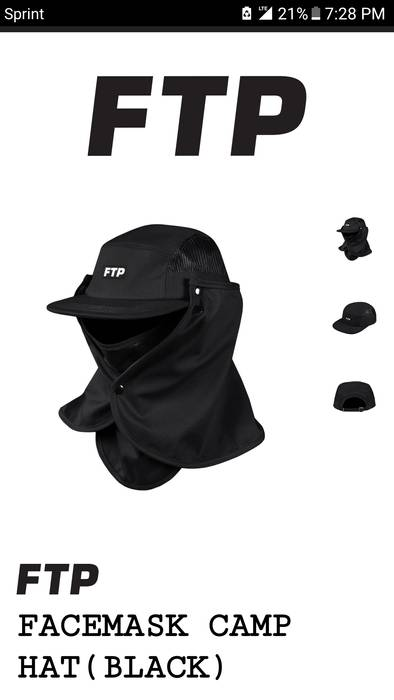 e02f361f2ee Fuck The Population Ftp black camp hat Size one size - Hats for Sale ...