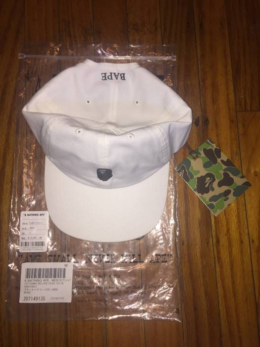Bape BAPE Dad Hat Ape Head Embroidery Panel Cap White A Bathing Ape ... a9a55b14d0b
