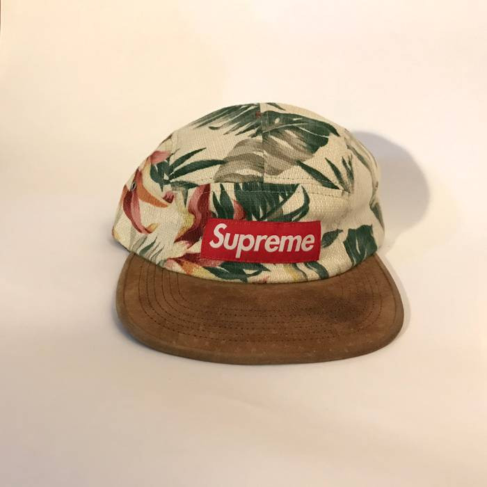 2d3f86e55c2 Supreme Floral Suede Camp Cap Size one size - Hats for Sale - Grailed