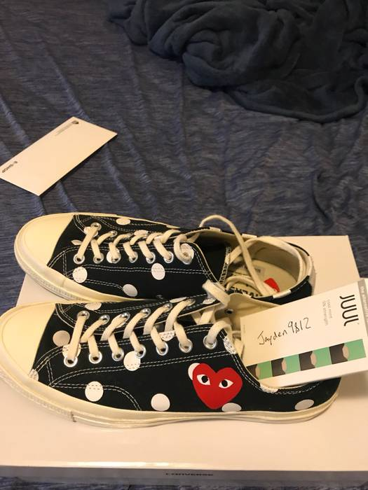 d13e0cfa5d5a13 Converse CDG x Converse polka dot low top black Size 10 - Low-Top ...