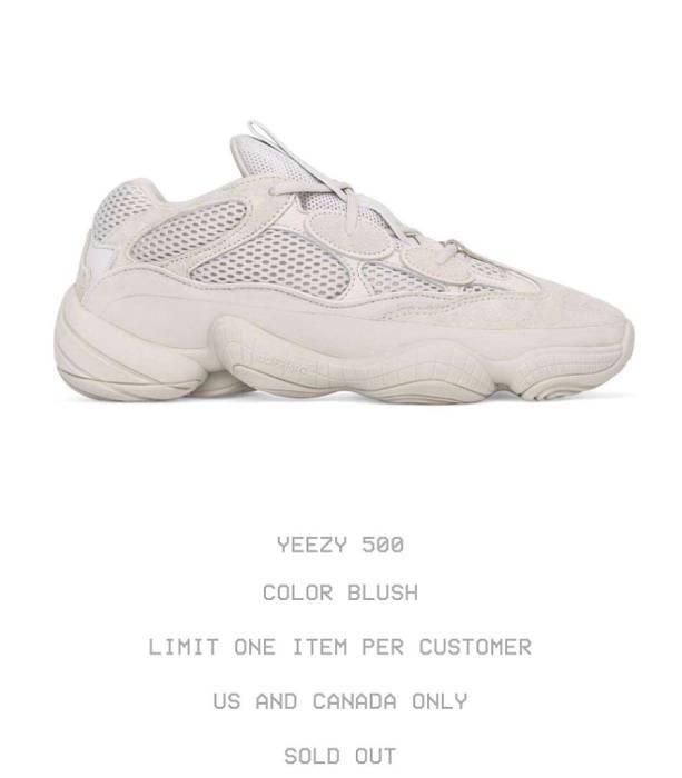 13403e7af5af2 Kanye West YEEZY 500  BLUSH  Size 11 - Low-Top Sneakers for Sale ...
