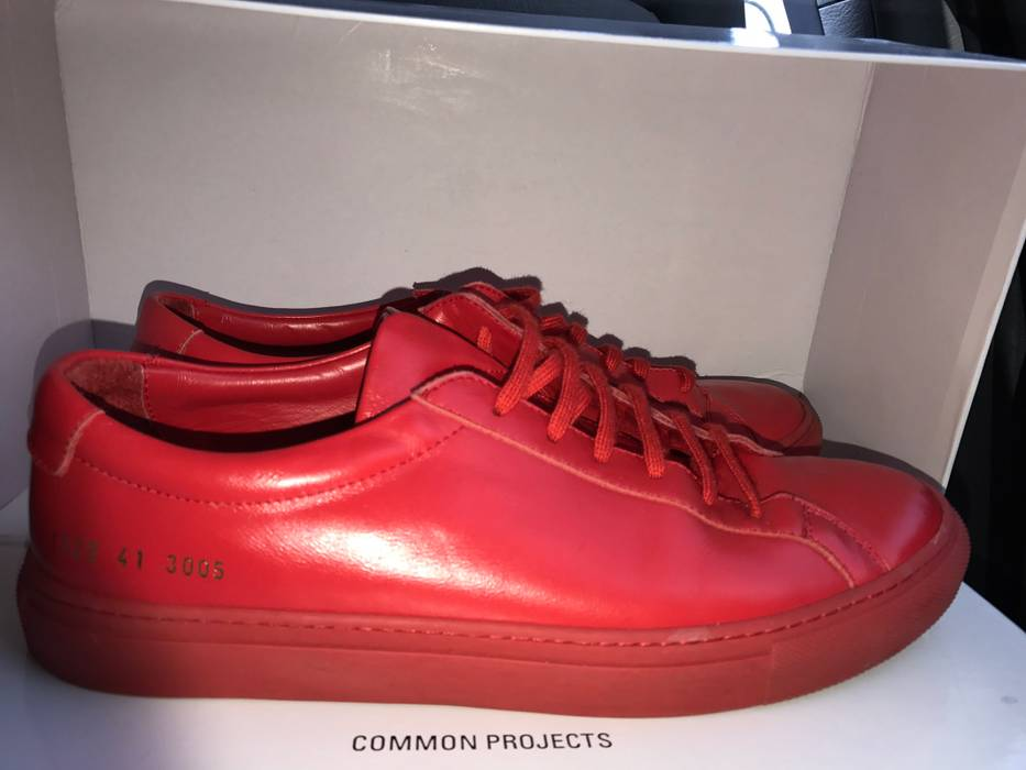 4d0e901b8e86 Common Projects Red Achilles Low Size 8 - Casual Leather Shoes for ...