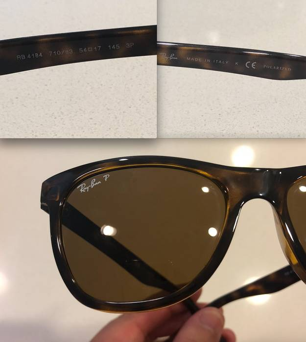 48247495c5597 RayBan Authentic RAY-BAN RB4184 710 83 Tortoise Nylon Brown Polarized  Sunglasses  178 Size