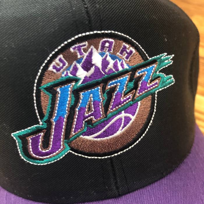 Vintage Utah Jazz Logo Snapback Size one size - Hats for Sale - Grailed 984ed310ad05