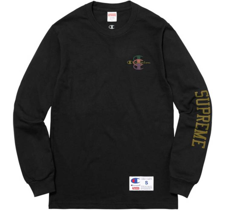 0fd2fdf253ab Supreme Supreme X Champion Longsleeve Tee Size l - Long Sleeve T ...
