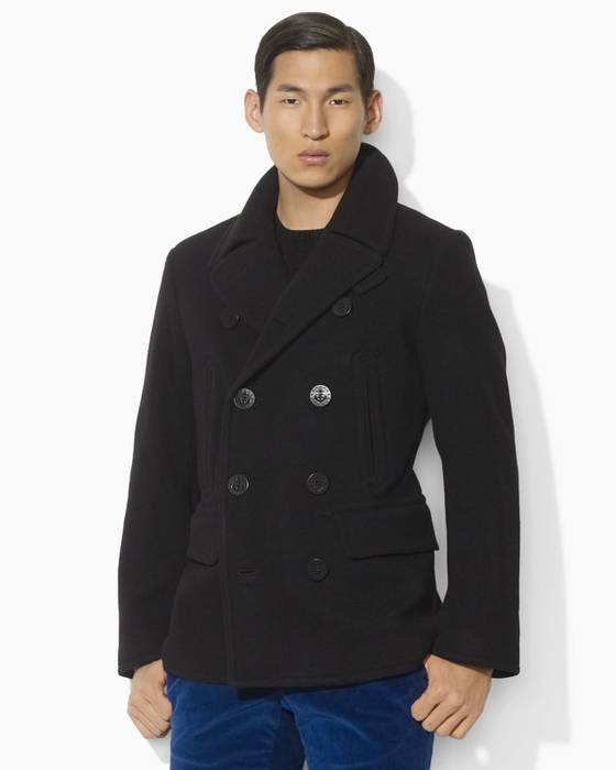 Polo Ralph Lauren Academy Wool Blend Pea Coat Size l - Heavy Coats ... 3de86bc880e2b