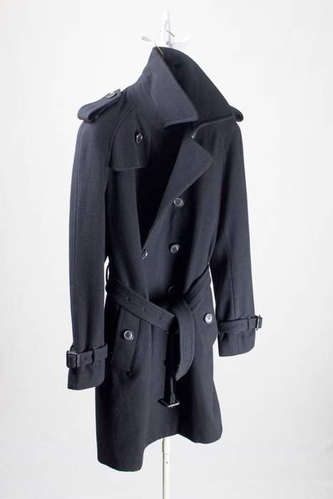 Burberry Prorsum Luxury Burberry Wool Cashmere Double Breasted Trench Mac  Peacoat Jacket Coat Overcoat Size US 19c64cf0344