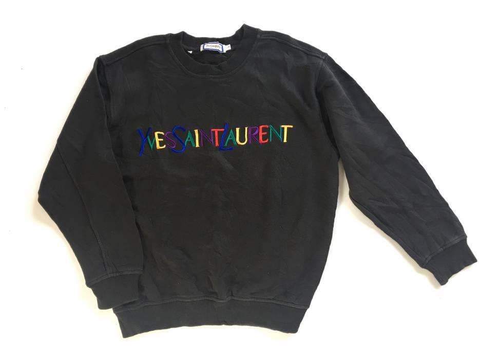 fdcf5367dd2 Saint Laurent Paris. Vintage YSL Yves Saint Laurent Paris Sweater  Embroidery Rainbow Color not gucci supreme louis vuitton ...