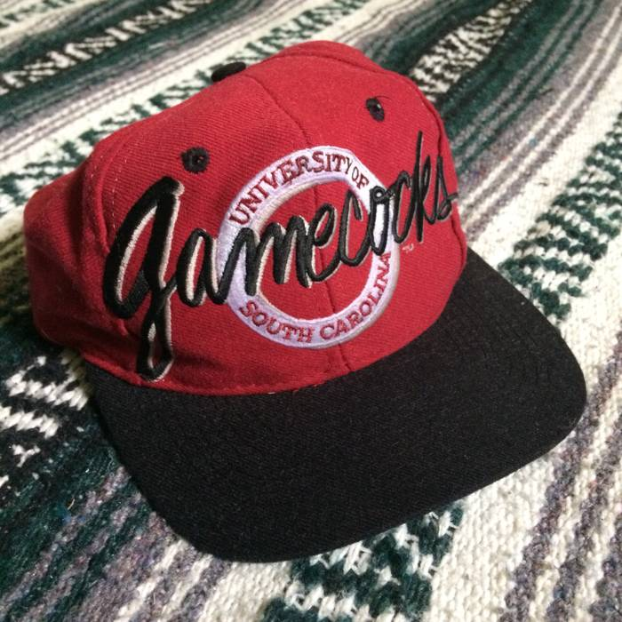 d60ce5902b3 The Game. Vintage 90s South Carolina Gamecocks Embroidered Script Spellout Snapback  Hat Cap 1990s