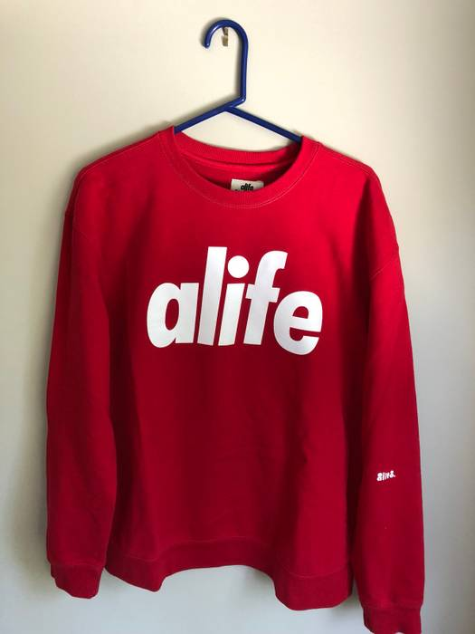 Alife Core Life Crewneck Sweatshirt In Red Size xxl - Sweatshirts ... fcee0db70883