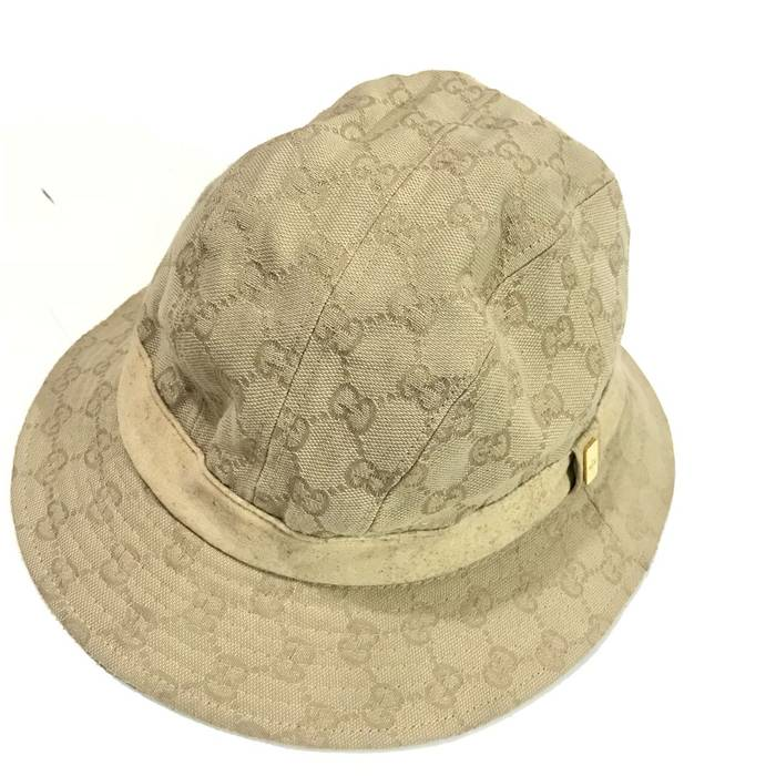509e472a86d1 Gucci Vintage Gucci Monogram Bucket Hat Made in Italy Good Condition Not louis  vuitton fendi hermes