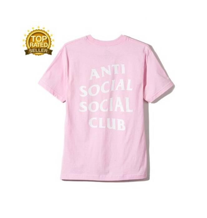 018abb954489 Antisocial Social Club. Logo Tee Light Pink L 🌹 BAPE Kith Supreme DS. Size   US L   EU 52-54 ...