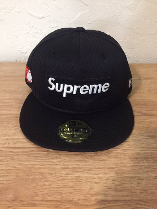 Supreme Supreme New Era Mesh Box Logo Cap Black Size one size - Hats ... 2eaaa7d886b