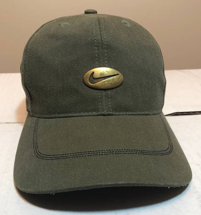 Nike 90s Vintage Nike Grey Rag Hat Olive Green Size one size - Hats ... 57b47d66d0b