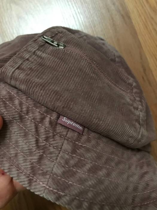 56e24e39f69 Supreme Corduroy Cord Zip Bell Bucket Hat Size one size - Hats for ...