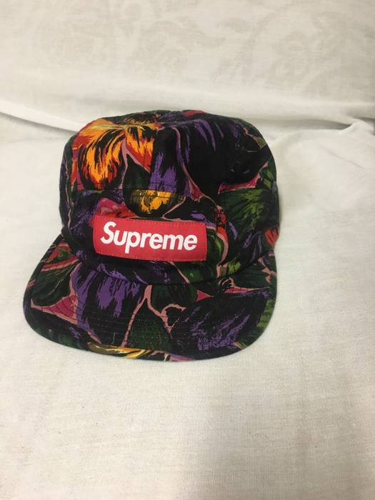 a1aef45c934 Supreme Supreme Painted Floral Camp Cap Hat Size one size - Hats for ...