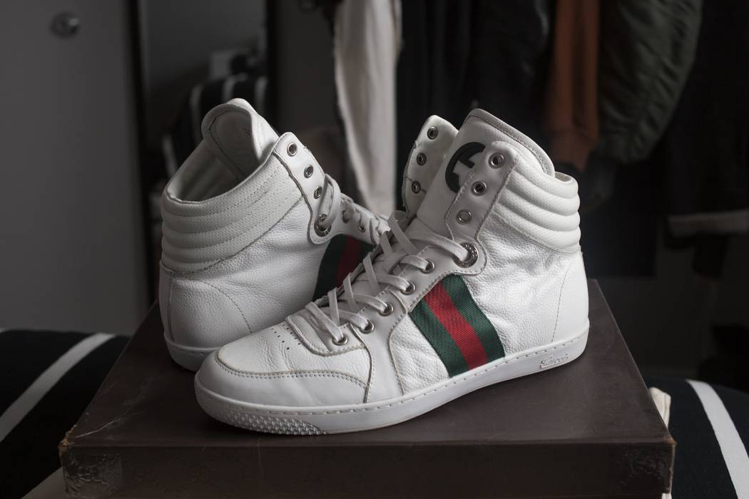 Gucci White Coda High Tops Size 8 - Hi-Top Sneakers for Sale - Grailed b063d64e5bb