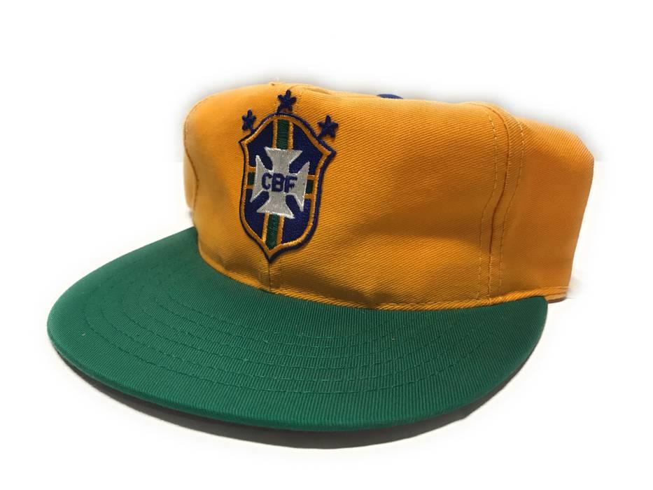 Vintage 90s Brazilian Football Confederation CBF Soccer Snapback Hat Size  ONE SIZE c78ec52b360
