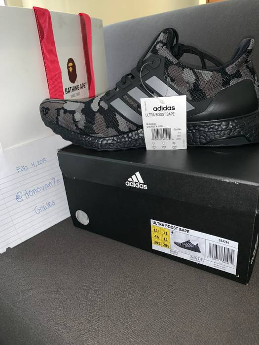 Adidas Adidas x BAPE Ultra Boost Black Camo Size 11.5 - Low-Top ... d25c42f57