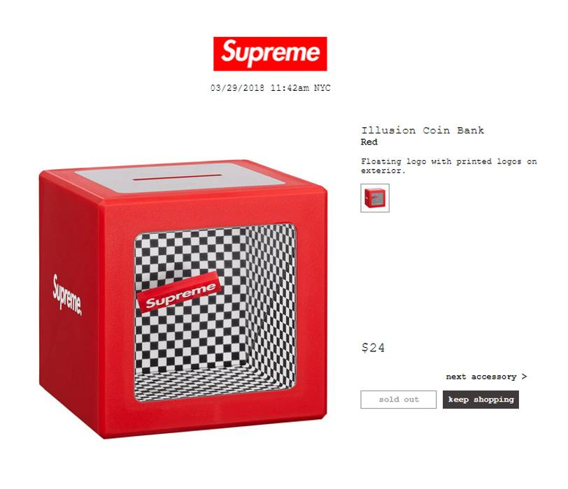 Supreme Illusion Coin Bank Size One