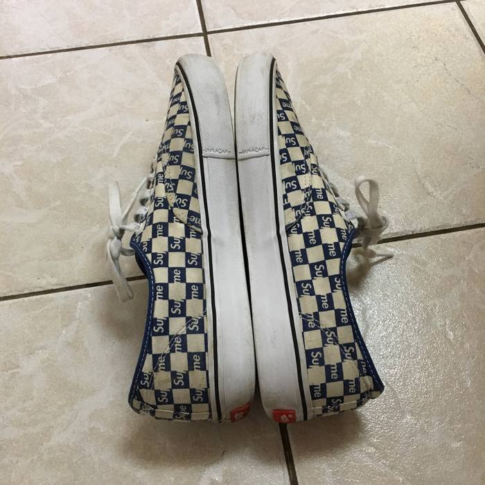 e180285c475192 Supreme Supreme vans Authentic Checkered Blue Size US 12   EU 45 - 3