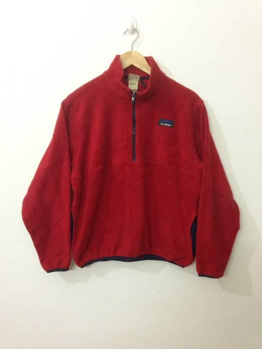 Ll Bean Sweater Fleece Half Zip Llbean Size S Sweaters