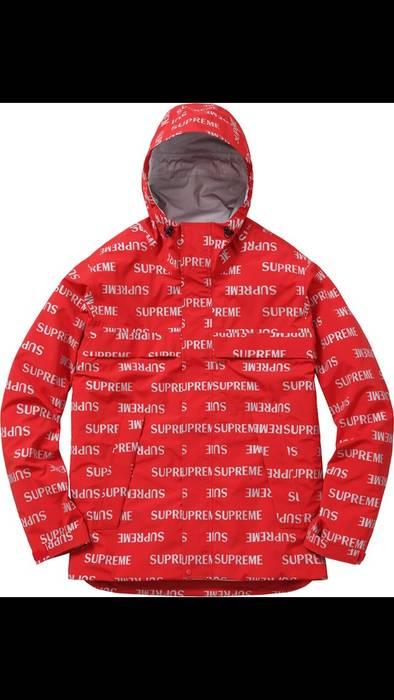supreme supreme 3m reflective repeat taped seam jacket in red sz