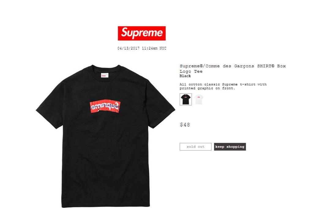 d471a5134df26a Supreme Supreme x CDG Box Logo T-Shirt