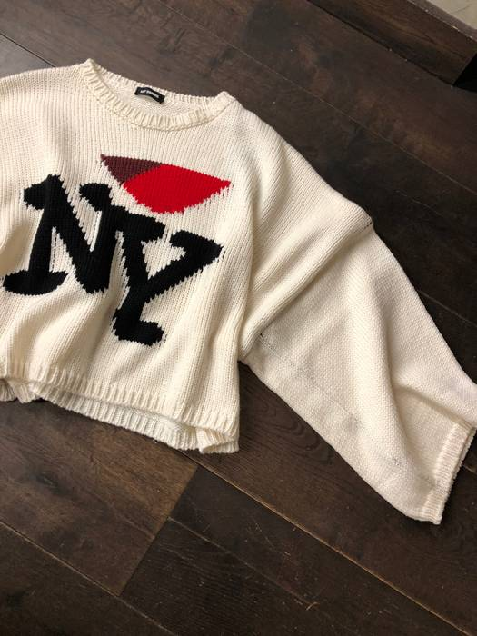 Raf Simons Ny Knit Crop Sweater Size M Sweaters Knitwear For