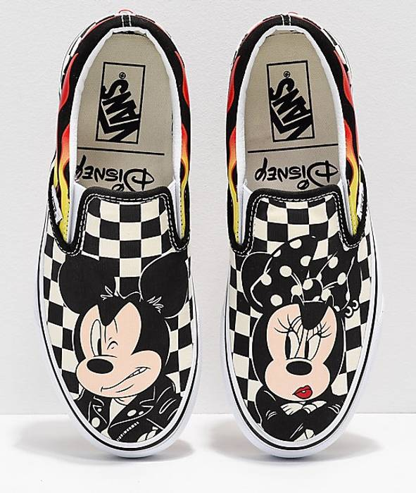 7603e4ffdd Vans Vans Classic Slip-On (Disney) Mickey   Minnie    Womens    Size ...