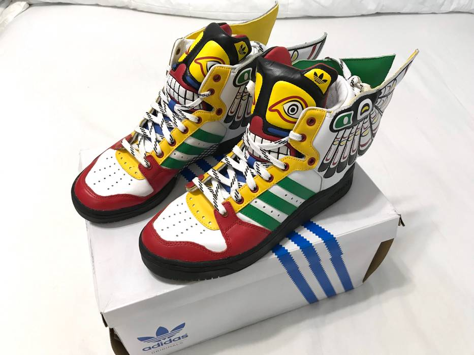 release date: 2843a 98759 Adidas Jeremy Scott Adidas Totem Wing Sneakers size 8.5 Size US 8.5   EU 41-